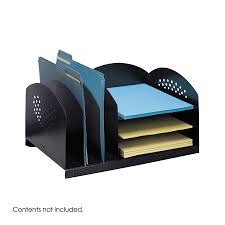 Upright Desk Organizer 3 Upright 3 Horizontal Desktop Organizer 3167bl