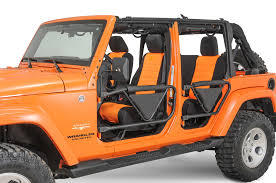 orange jeep cj non 4x4 front trail doors for 07 15 jeep wrangler u0026 wrangler