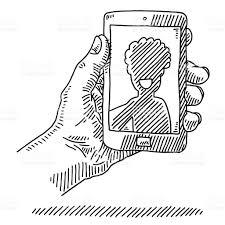 smart phone speech bubble drawing stock vector art 507449097 istock