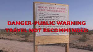 Arizona travel warnings images Federal government warning sign for arizona desert jpg