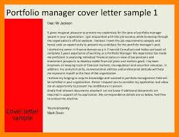 portfolio manager cover letter yours sincerely mark dixon cover