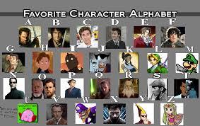 Alphabet Meme - favorite character alphabet meme by the observant nerd on deviantart