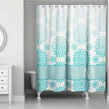 Aqua Blue Shower Curtains Buy Aqua Blue Fabric Shower Curtains From Bed Bath Beyond