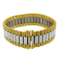gold bracelet rolex images Rolex style 9ct yellow white gold bracelet gent 39 s size jpg