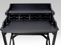 Schreibtisch In Schwarz Sekretär Schreibtisch Computertisch Aus Massivholz In Schwarz