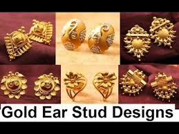 stud for ear ear studs for women gold jewellery designs collection