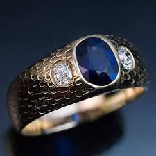 mens rings sale images Antique three stone sapphire diamond men 39 s ring at 1stdibs jpg