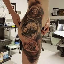 one piece compass tattoo 100 seductive hip tattoos for women