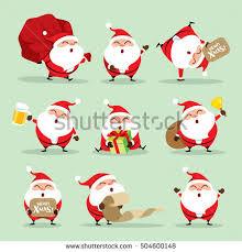 christmas santa claus collection christmas santa claus set 1 stock vector 504600148