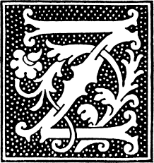 clipart initial letter z from beginning of the 16th century
