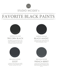 ask studio mcgee our favorite black paints studio mcgee paint