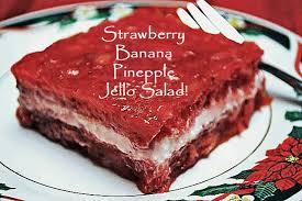 strawberry banana and pineapple jello salad