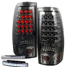 2006 silverado tail light assembly amazon com 2003 2006 chevy silverado rear brake tail lights smoked