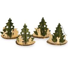 weihnachtsdekoration aus holz deko anhänger weihnachten tannenbaum holz 7cm 4 stück