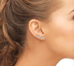 Personalized Name Earrings Sterling Personalized Name Earrings U2013 Spoiledrottyn