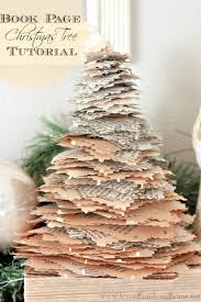 book page christmas trees tutorial love of family u0026 home