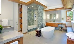 Small Bathroom Designs With Walk In Shower Modern Bathroom With Geometric Tiled Floor And Wet Shower Room