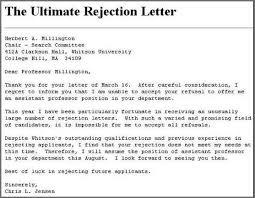rejection letter sample bidproposalform com