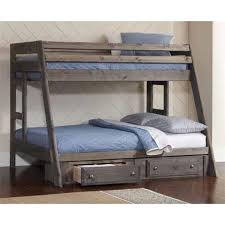 Youth Bunk Beds Coaster Wrangle Hill Youth Bunk Bed In Gun Smoke