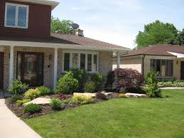 image of simple landscaping ideas around house easy for front home