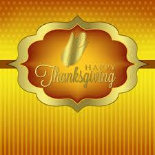 pumpkin thanksgiving card in vector format royalty free stock