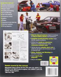 mitsubishi pajero petrol u0026 diesel automotive repair manual 83 97