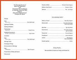 wedding ceremony bulletin template wedding programs templates sop format exle