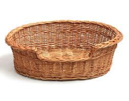 cane laundry hamper wicker dog bed basket amazon co uk pet supplies