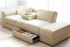 kensington faux leather ottoman storage sofa bed cream in