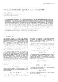 Photography Resume Example by Jbis The Electromagnetic Quantum Vacuum Warp Drive