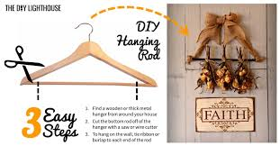 3 easy steps how to create a breathtaking diy floral wall hanging diy hanging rod 3 steps