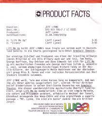 Armchair Theatre Jeff Lynne 45cat Jeff Lynne Lift Me Up Sirens Reprise Germany