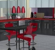 Red Black White Kitchen - black and white kitchens inspired ideas home design and decor ideas