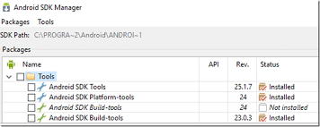 android build tools using the correct version of android sdk build tools with xamarin