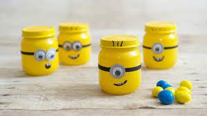 minion party favors baby food jar despicable me minion party favors