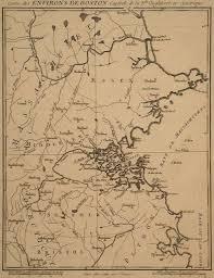 Boston Map 1770 by George Ritzlin Antique Maps U0026 Prints Catalog List