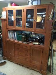 1920 S China Cabinet by Arts U0026 Crafts 1920s Oak Built In Buffet Hutch Lothian Salvage