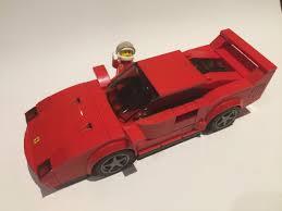 ferrari lego speed champions lego ideas ferrari f40 lego speed champions