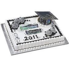 graduation cake toppers deco pac grad cap silver graduation cake topper