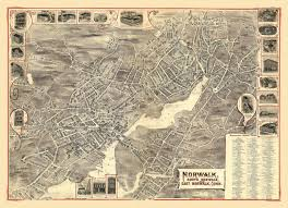 Connecticut State Map by Antique Map Of Norwalk Connecticut Poster 1899 Fairfield County