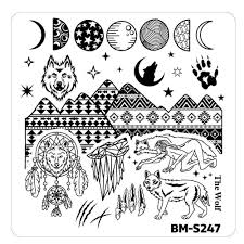 halloween plates halloween nail stamp plates house of horrors she wolf spirit