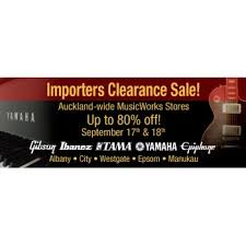 musical importers clearance sale this weekend music works up