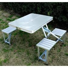 aluminum foldable packable picnic table free shipping today