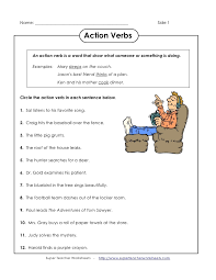 action verb worksheets 2nd grade worksheets