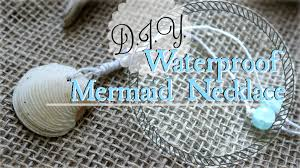 shell necklace making images How to make a seashell necklace diy swimmable mermaid jewelry jpg