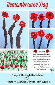 easy ideas for remembrance day in first grade grade onederful