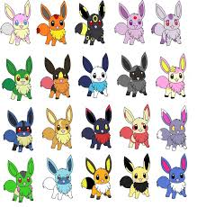 pokemon coloring pages eevee evolutions all coloring page