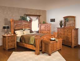 luxurious rustic bed sets furniture for classic room decoration