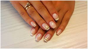 french manicure on short nails