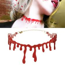 high quality haloween makeup set fancey dress fake blood choker
